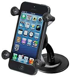 RAM Mounts (RAP-SB-180-UN7) Lil Buddy Adhesive Stick Base Dash Mount with Universal X-Grip Cell Phone Holder