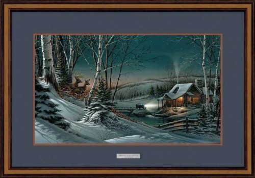 Evening with Friends Elite Framed Encore Print by Terry Redlin by Wild Wings