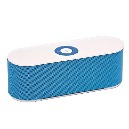 Ae zone S207 Mini Bluetooth Speaker  White and Blue