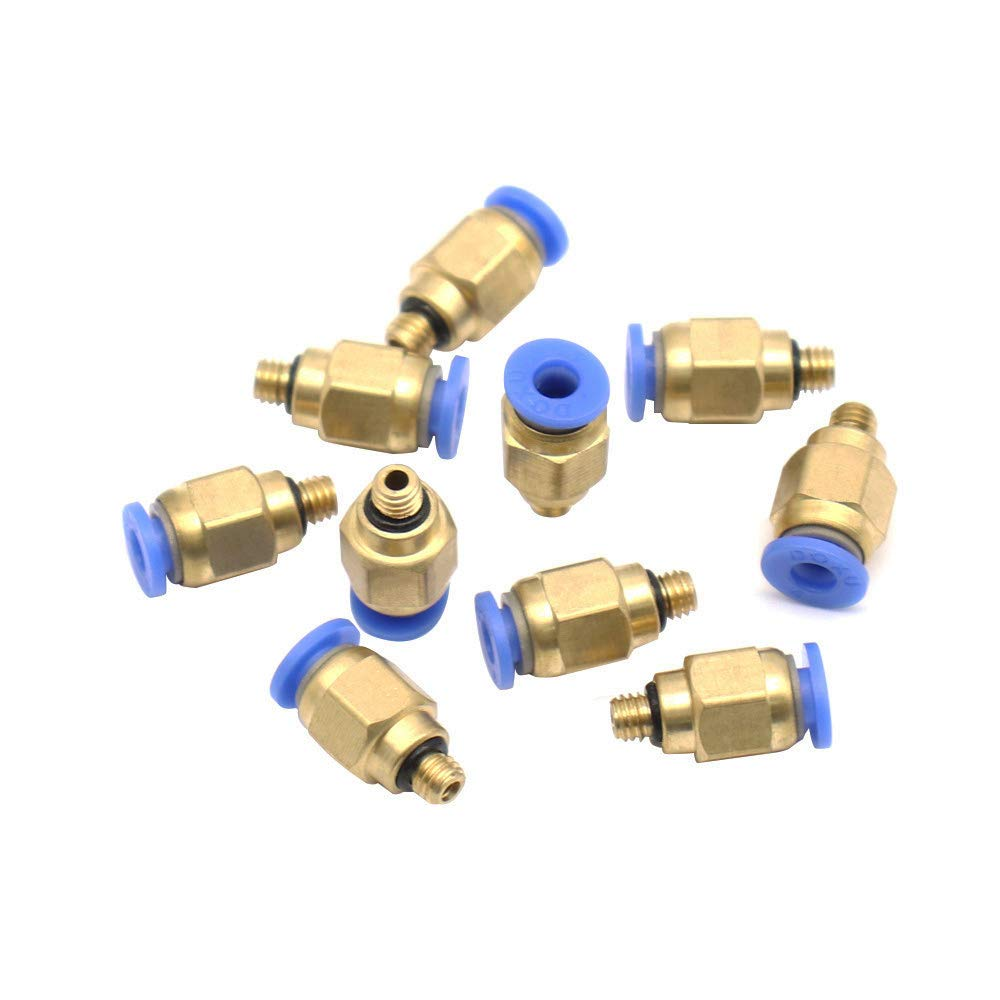 MINIATURE Push to Connect Straight Fittings 4mm tubing M6 6mm