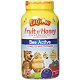 L'il Critters Fruit N' Honey Bee Active Complete Multivitamin, 190 Count (1 pack)