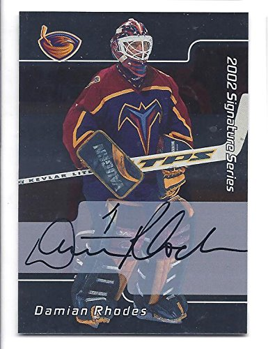 DAMIAN RHODES 2001-02 Be A Player BAP Signature Series #53 AUTOGRAPH Card Atlanta Thrashers Hockey