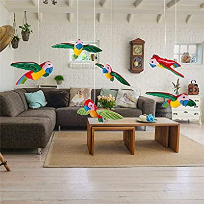 4 Pieces Inflatable Flying Parrot ToysHawaiian Pool Luau Tropical Party Decoration, 2 Colors: Toys & Games