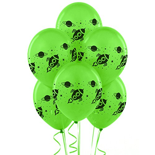 Rocket to Space Birthday Party Supplies 18 Latex Balloons -