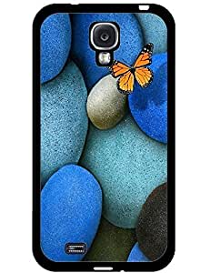 Butterfly Perched On Colorful Cobblestone Phone Hard Case for Samsung Galaxy S4 I9500