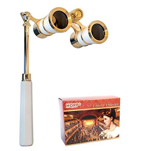 3 x 25 Opera Glasses Binocular w/ Built-In Extendable Handle