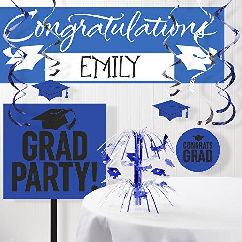 Graduation School Spirit Blue Decorations Kit ()