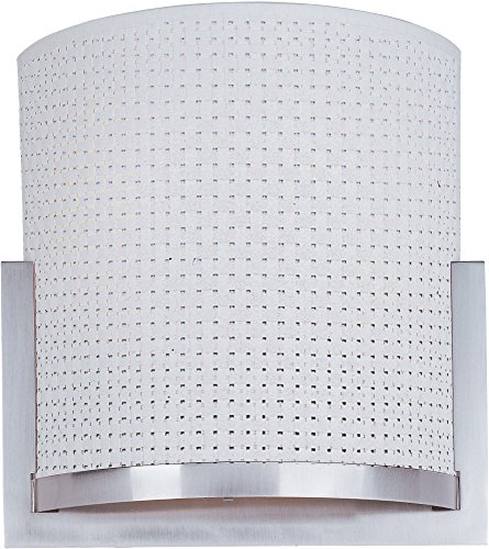 100sn Elements Satin - ET2 E95188-100SN Elements 2-Light Wall Sconce, Satin Nickel Finish, Glass, GU24 Fluorescent Bulb, 20W Max., Dry Safety Rated, 2900K Color Temp., Electronic Low Voltage (ELV) Dimmable, Glass Shade Material, 320 Rated Lumens