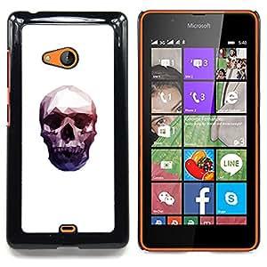 - Neon Polygon Skull - - Cubierta del caso de impacto con el patr??n Art Designs FOR Microsoft Nokia Lumia 540 N540 Queen Pattern