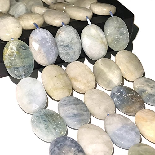 [ABCgems] Brazilian Aquamarine 10X14mm Faceted Oval Beads