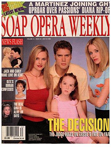 Soap Opera Weekly Armoury - July 27, 1999 - Sharon Case, Joshua Morrow, Camryn Grimes & Tamara Clatterbuck (Young & the Restless)