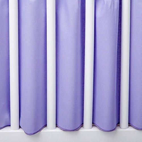 BB-CAMARADE - Cache sommier lit bébé standard 120x60 cm. 100 % coton. Violet.