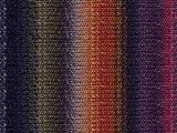 Noro Kureyon, 242 - Black-Brick-Moss-Dark Red