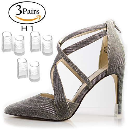 HEEl HUNKS Anti-Slip Stiletto High Heel Protectors 3 Pairs - Size H1
