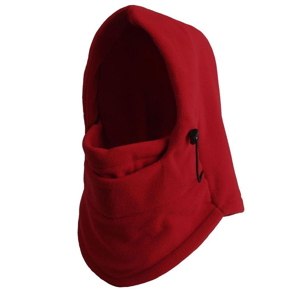 Red LUQUAN 6 In 1 Thermal Fleece Balaclava Hat Hood Police Swat Ski Bike Wind Stopper Face Mask New Caps Neck Warmer