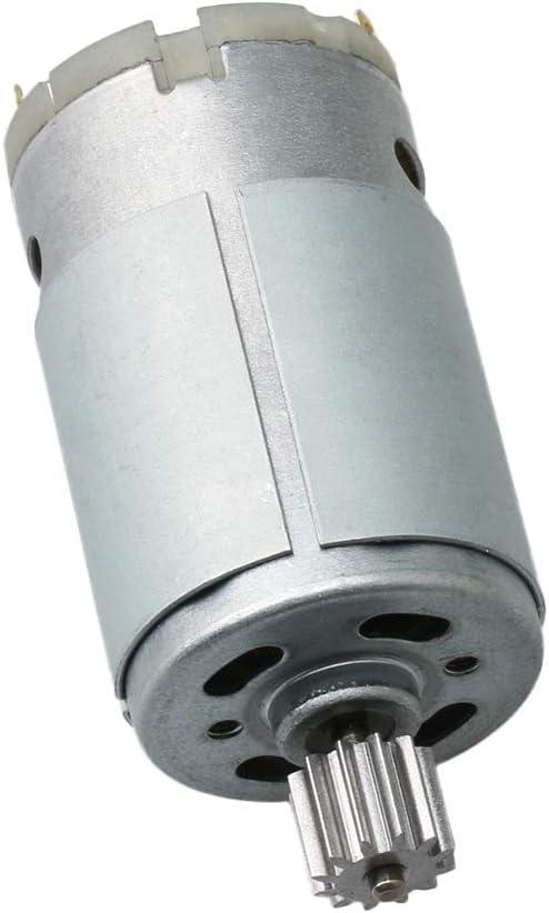 390//12 Z/ähne BQLZR Elektro-Motor f/ür Kinderspielzeug 2,9 cm Durchmesser 16000 U//min 12 V silberner Stahl
