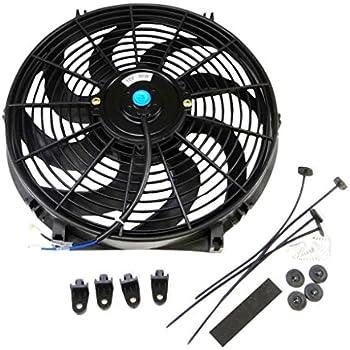 Universal Slim Fan Push Pull Electric Radiator Cooling 12V 80W Mount Kit (14