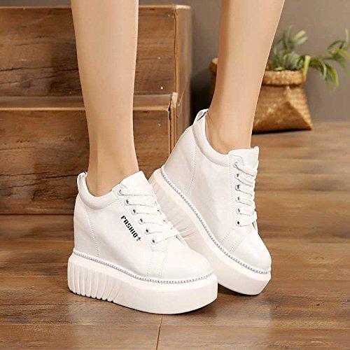 Ajunr Transpirable Calzado elegante mas alto Ajunr zapatos Moda alto Fondo grueso 10 elegante Sandalias white cm fina Sandalias Transpirable Moda qwqIF