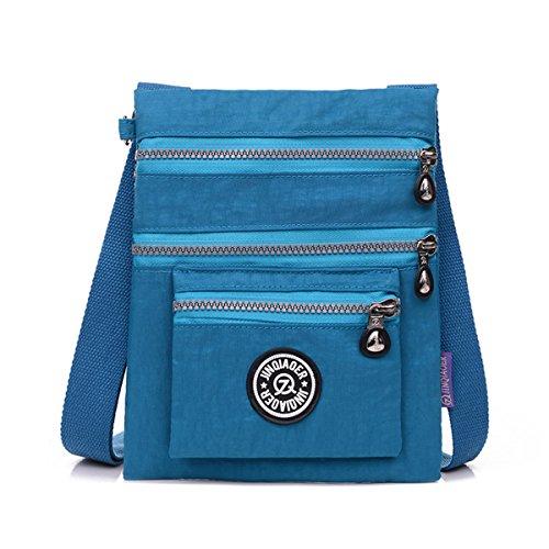 Small Sea Cross Bag body Shoulder Nylon Resistant Water Blue Multilayers TianHengYi zOqgwz