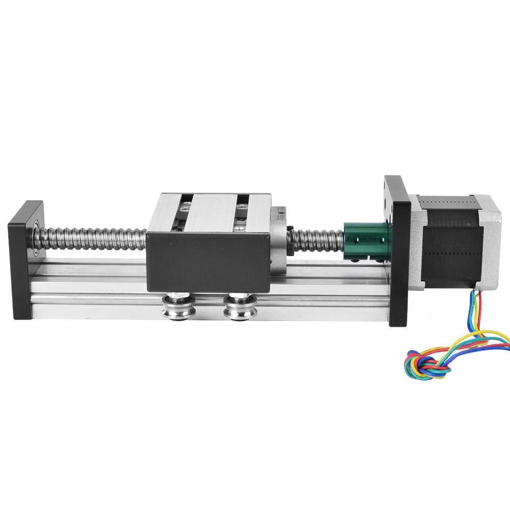 1605 CNC Sliding Table for Automation Industry 42 Stepper Motor,300mm Stroke Single Shaft Ball Screw Linear Guide Rail 300mm Linear Guide Rail Aluminum Alloy Linear Guide Rail Slide Table