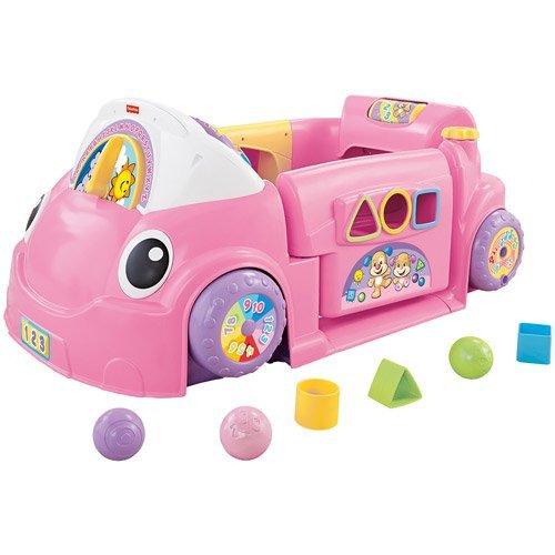 Fisher-Price Laugh & Learn Crawl Around Car, Pink