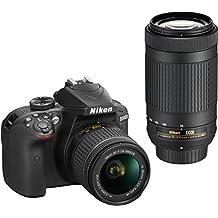 Nikon D3400 DSLR Camera with AF-P DX NIKKOR 18-55mm f/3.5-5.6G VR and AF-P DX NIKKOR 70-300mm f/4.5-6.3G ED