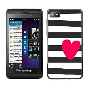 """Blackberry Z10 , JackGot - Impreso colorido protector duro espalda Funda piel de Shell (Prisión blancos negros púrpuras Líneas"""")"""