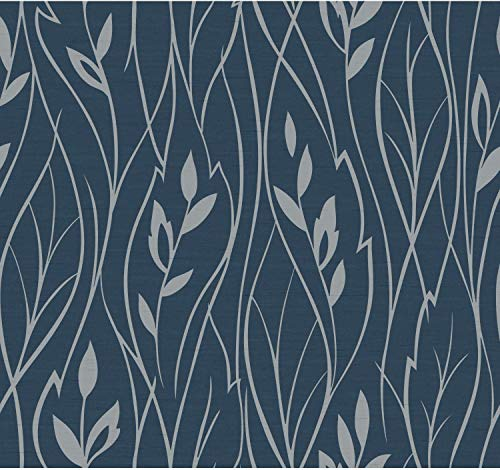 Contemporary Leaf Silhouette - York Wallcoverings Y6200802 60.75 Square Foot - Leaf Silhouette - Unpasted Non-W, N/A