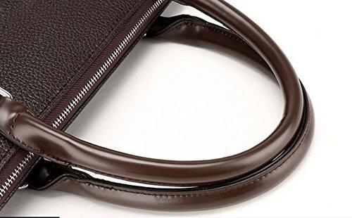 Bolso Hombro Moda Portátil Brown1 Hombres Impermeable Oblicua Solo De La Los Gran Maletín Capacidad Ordenador wPqPIrA