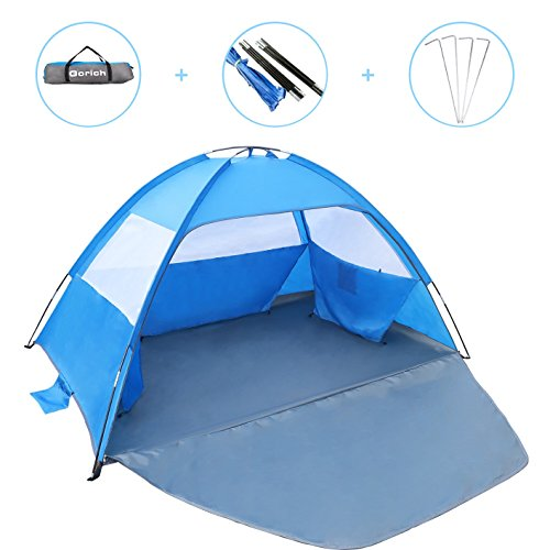 Gorich [2018 New Beach Tent,UV Sun Shelter Lightweight Beach Sun Shade Canopy Cabana Beach Tents Fit 3-4 Person