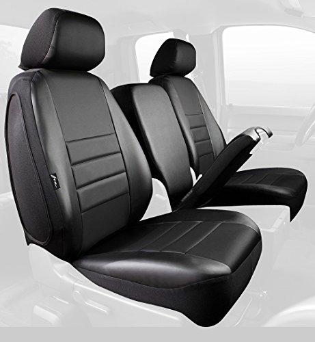 - Fia SL68-30 BLK/BLK Custom Fit Front Seat Cover Split Seat 40/20/40 - Leatherette (Solid Black)