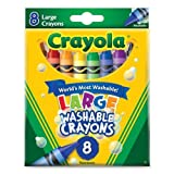 Crayola Washable Crayons, Large,8 Count ( Case of 24 )