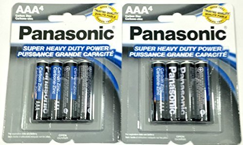 8pc Panasonic AAA Batteries Super Heavy Duty Power Carbon Zinc Triple A Battery 1.5v ()