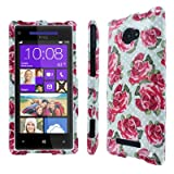 Empire Full Coverage Vintage Roses Case for HTC Windows Phone 8X