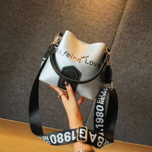 Silver Lettre Sac à Sac Mode Main à Femmes Sac Couleur 11cm Paquet bandoulière Large Diagonale Seau épaule 22 19 wXq8UvR