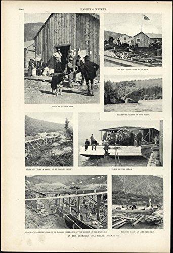 alaska-klondike-gold-fields-dawson-yukon-1897-vintage-newsprint-sheet-paper