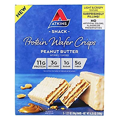 Atkins Protein Wafer Crisps - Peanut Butter (Pack of 2)