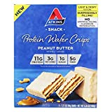 Atkins Protein Wafer Crisps - Peanut Butter (Pack of 6)
