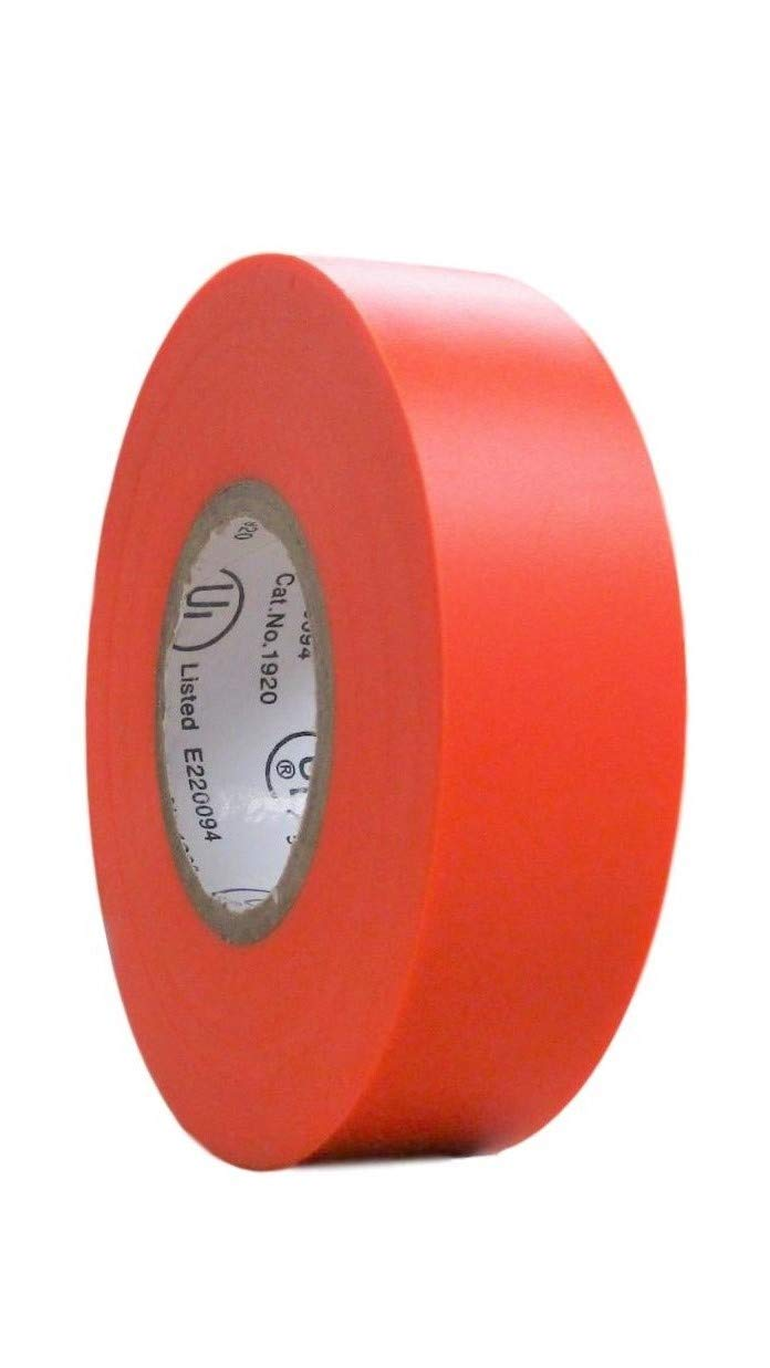 Waterproof PVC Pink 60 ft X 3//4 in X 0.07 in TradeGear Single Roll Electrical Tape Matte Suitable for Use at No More Than 600V and 80 Degrees C Rubber Resin Ul Listed Colored Durable Adhesive
