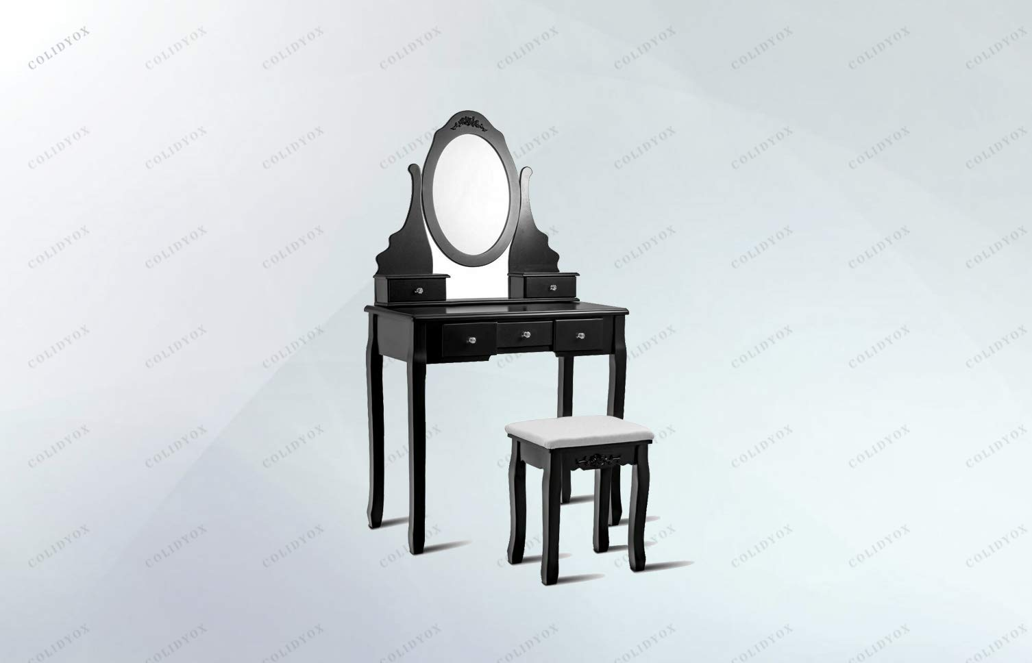 COLIDYOX>>>Vanity Jewelry Wooden Makeup Dressing Table are You Looking for Forward to Owning a Wonderful Dressing Table Set Come and Have a Look at Our Glamorous Dressing Table Set! It Will be