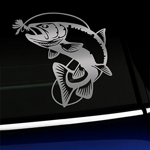 Jumping Trout - Vinyl Decal - Choose Color - [SILVER] - Jumping Trout