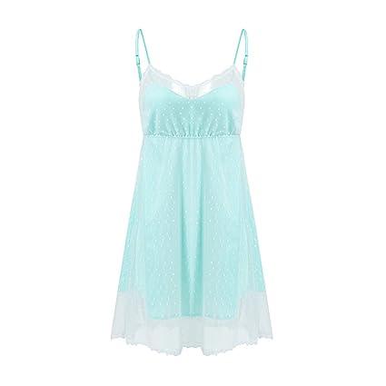 Pijamas camisones camisones ropa de casa ligas verano señoras luz verde camisones frescos princesas tirantes delgadas