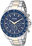 Fossil Men's Neale Quartz Stainless Steel Sport Watch, Color: Silver, Gold (Model: BQ2266)