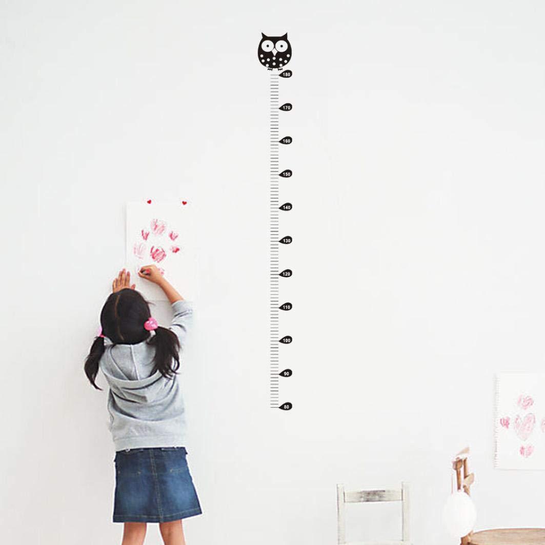 Diadia Height Chart for Kids Growth Owl Kids Height Chart Wall Sticker Home Decor Cartoon Animal Height Ruler
