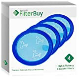 4 - FilterBuy Dyson DC23 (DC-23) Pre Motor Replacement Filters, Part # 919778-02. Designed by FilterBuy to be Compatible with Dyson DC23 Series Canister Vacuum Cleaners.