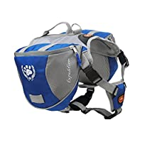 MY PET for Dog Backpack Bagpacks Pack Back Adjustable Saddlebag Hiking Training Travel Waterproof Style with Reflective Strip Accessory Blue