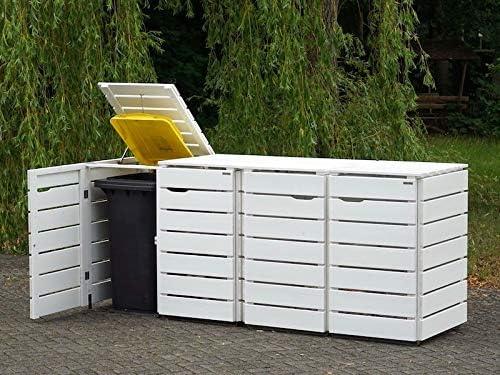 Favorito binnen-markt - 4 contenitori per bidoni della spazzatura in legno EQ16