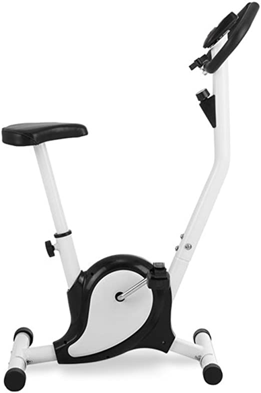 Novohogar Bicicleta Estática para Hacer Spinning en casa. Tamaño Compacto, Resistencia Variable, Pedales Antideslizantes, Función SCAN y Pulsómetro en el Manillar (Blanca): Amazon.es: Deportes y aire libre