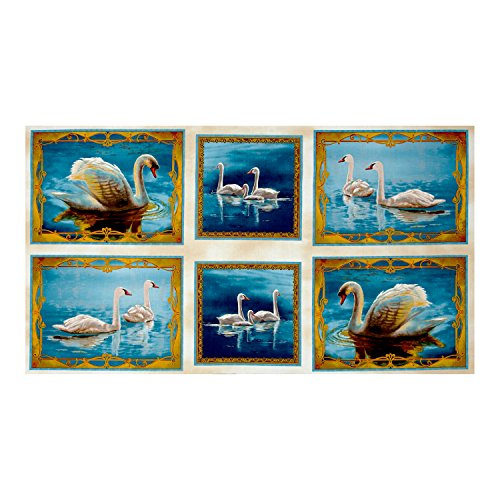 QT Fabrics Splendid Swan Picture Patches 24