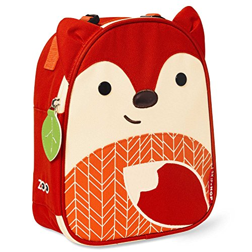 Skip Hop Zoo Little Kid and Toddler Lunch Bag, Ferguson Fox, Red